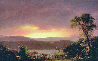 A Catskill Landscape, c.1858/60 | Frederic Edwin Church| Painting Reproduction
