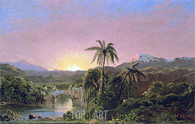 Sunset in Equador, undated | Frederic Edwin Church | Painting Reproduction