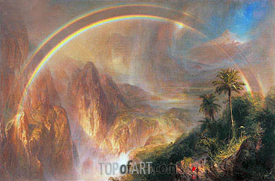 Rainy Season in the Tropics, 1866 | Frederic Edwin Church| Painting Reproduction