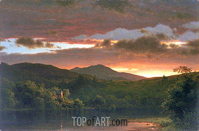 Twilight (Catskill Mountain), 1858 | Frederic Edwin Church| Gemälde Reproduktion
