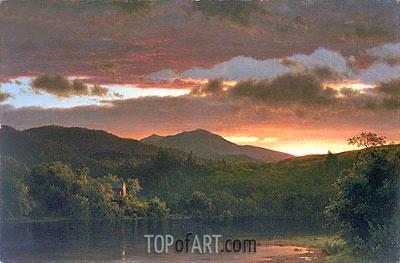 Frederic Edwin Church | Twilight (Catskill Mountain), 1858