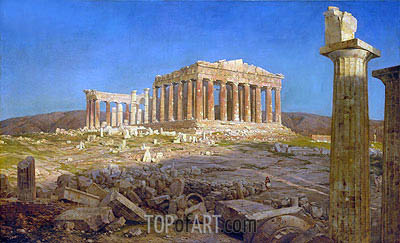 The Parthenon, 1871 | Frederic Edwin Church | Painting Reproduction