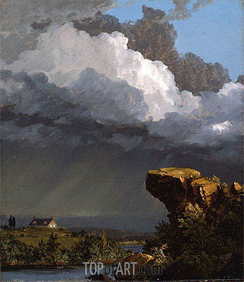 A Passing Storm, 1849 | Frederic Edwin Church| Gemälde Reproduktion