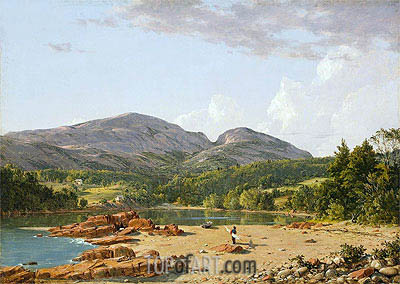 Otter Creek, Mt. Desert, 1850 | Frederic Edwin Church| Painting Reproduction
