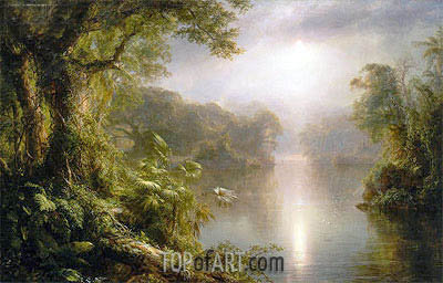 El Rio de Luz (The River of Light), 1877 | Frederic Edwin Church| Painting Reproduction