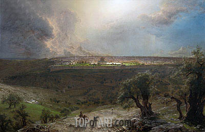 Jerusalem from the Mount of Olives, 1870 | Frederic Edwin Church| Painting Reproduction