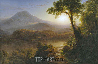 Tropical Scenery, 1873 | Frederic Edwin Church| Painting Reproduction