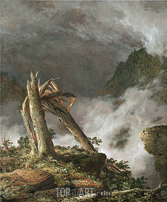 Storm in the Mountains, 1847 | Frederic Edwin Church| Painting Reproduction