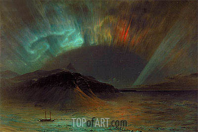 Aurora Borealis, 1865 | Frederic Edwin Church| Painting Reproduction