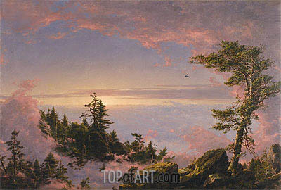 Above the Clouds at Sunrise, 1849 | Frederic Edwin Church| Painting Reproduction