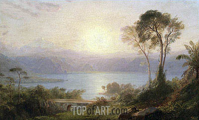 Tropical Landscape, c.1882 | Frederic Edwin Church | Painting Reproduction