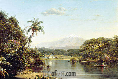 View on the Magdalena River, 1857 | Frederic Edwin Church| Painting Reproduction