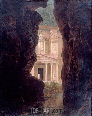 El Khasne, Petra, 1874 | Frederic Edwin Church | Painting Reproduction