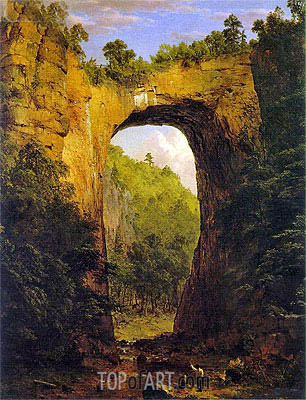 The Natural Bridge, Virginia, 1852 | Frederic Edwin Church | Painting Reproduction