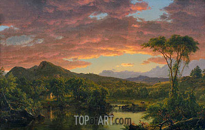 A Country Home, 1854 | Frederic Edwin Church| Gemälde Reproduktion
