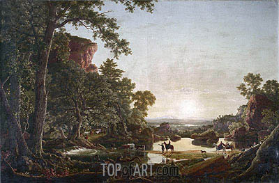 Hooker's Party Coming to Hartford, 1846 | Frederic Edwin Church| Painting Reproduction