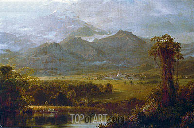 The Mountains of Ecuador, 1855 | Frederic Edwin Church| Painting Reproduction