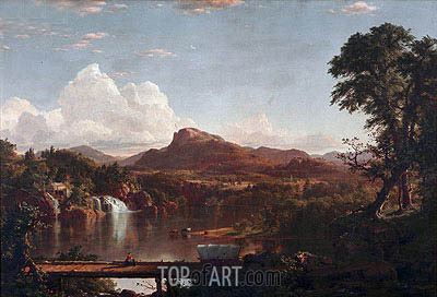 Scene in the Catskills, 1851 | Frederic Edwin Church| Gemälde Reproduktion
