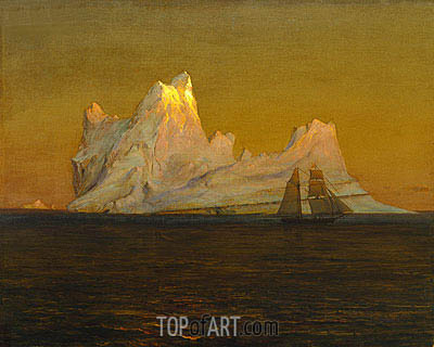 The Iceberg, c.1875 | Frederic Edwin Church| Gemälde Reproduktion