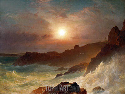 Coast Scene, Mount Desert, 1863 | Frederic Edwin Church | Painting Reproduction