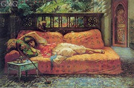 The Siesta (Afternoon in Dreams) | Frederick Arthur Bridgman | outdated
