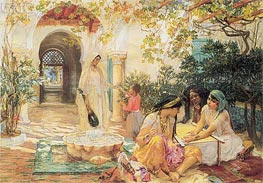 In the Courtyard, El Biar | Frederick Arthur Bridgman | outdated