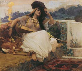 L'Indolence | Frederick Arthur Bridgman | Painting Reproduction