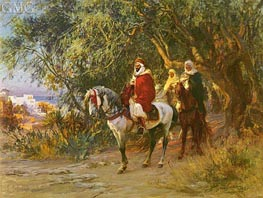 The Return | Frederick Arthur Bridgman | Painting Reproduction