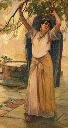 Spanish Lady, 1887 by Frederick Arthur Bridgman | Painting Reproduction