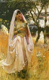 Moorish Girl, Algiers Countryside | Frederick Arthur Bridgman | Painting Reproduction