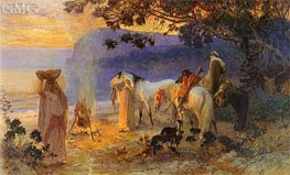On The Coast Of Kabylie | Frederick Arthur Bridgman | Painting Reproduction