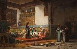 Moorish Interior | Frederick Arthur Bridgman | Painting Reproduction