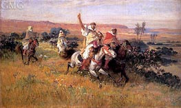 The Falcon Hunt, undated by Frederick Arthur Bridgman | Painting Reproduction