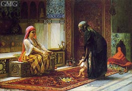 Mother and Child (The First Steps), 1878 by Frederick Arthur Bridgman | Painting Reproduction