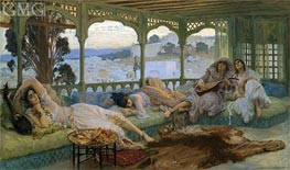 The Silence of the Night: Alger, b.1895 by Frederick Arthur Bridgman | Painting Reproduction