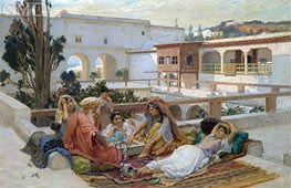 An Afternoon's Amusement, Undated by Frederick Arthur Bridgman | Painting Reproduction