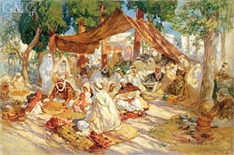 Market Scene, 1923 by Frederick Arthur Bridgman | Painting Reproduction