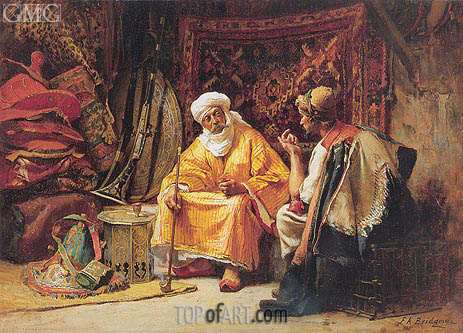 The Rug Merchants, undated | Frederick Arthur Bridgman | Painting Reproduction