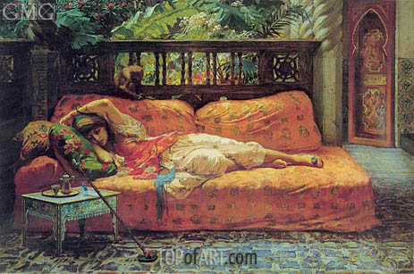 Frederick Arthur Bridgman | The Siesta (Afternoon in Dreams), 1878