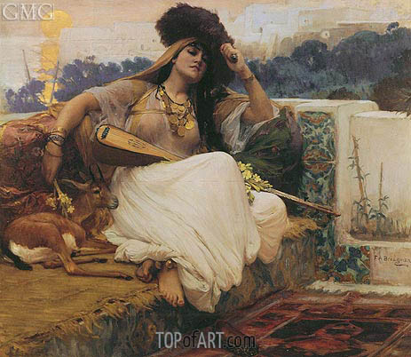 L'Indolence, undated | Frederick Arthur Bridgman | Painting Reproduction