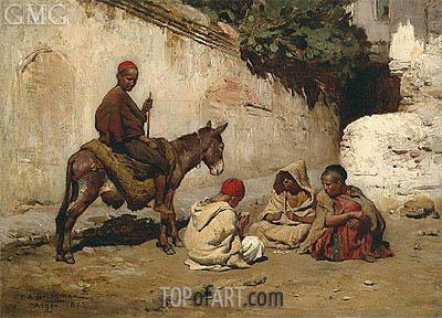 Arab Children Palying Cards, 1873 | Frederick Arthur Bridgman | Gemälde Reproduktion