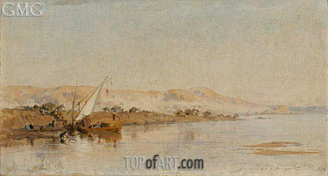 Frederick Arthur Bridgman | Scene on the Nile, 1878