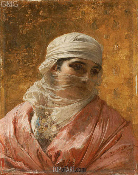 A Circassian, 1881 | Frederick Arthur Bridgman | Painting Reproduction