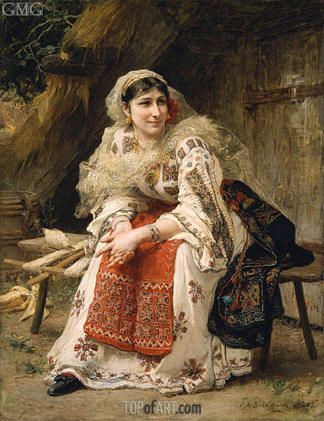 Armenian Woman, 1882 | Frederick Arthur Bridgman | Painting Reproduction