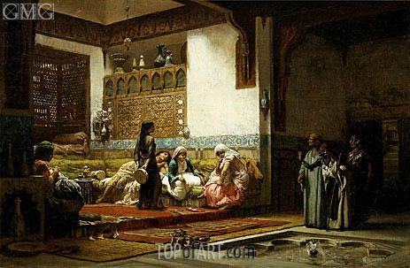 Frederick Arthur Bridgman | Moorish Interior, c.1875/79