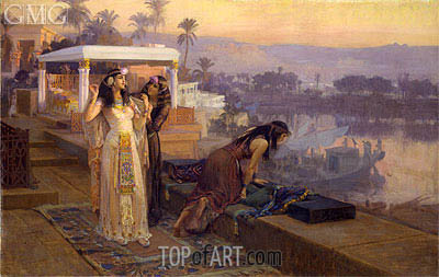 Cleopatra on the Terraces of Philae, 1896 | Frederick Arthur Bridgman | Painting Reproduction