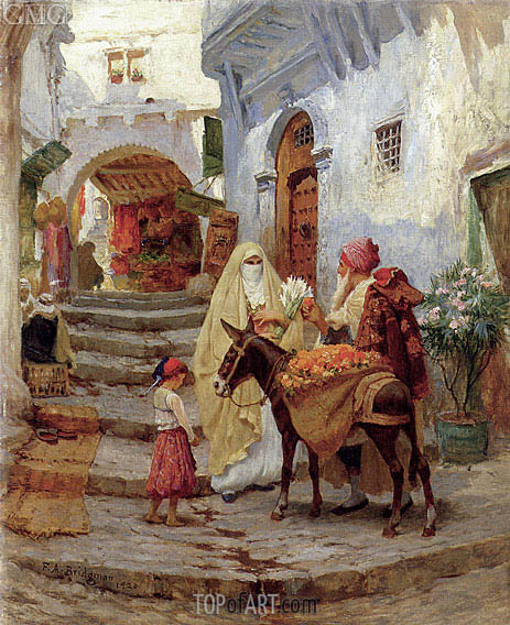 The Orange Seller, 1920 | Frederick Arthur Bridgman | Painting Reproduction