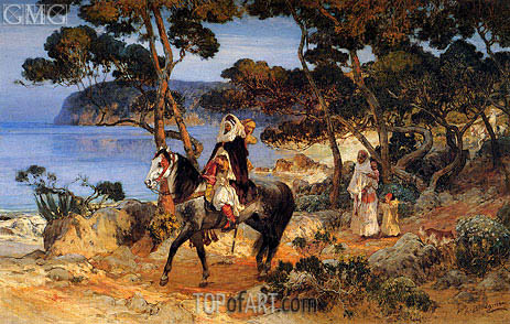 A Coastal Trail, undated | Frederick Arthur Bridgman | Painting Reproduction