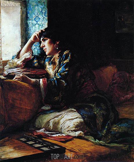 Frederick Arthur Bridgman | Aicha a Woman of Morocco, 1883