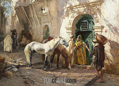 Scene in Morocco, 1885 | Frederick Arthur Bridgman | Painting Reproduction